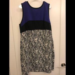 Calvin Klein Plus Purple/Snakeskin Shift Dress
